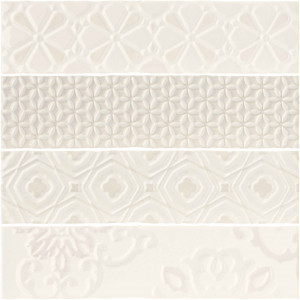 Плитка декор. (7,5x30) ONDINE RELIEVE ALL WHITE